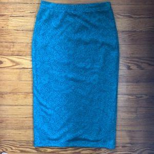 NWT, Anthropologie, Bordeaux, green skirt, s/p
